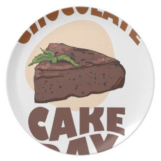 27th January - Chocolate Cake Day Party Plate
