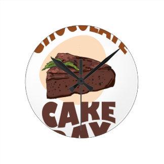 27th January - Chocolate Cake Day Round Clock