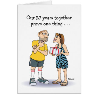 27th Wedding Anniversary Card: Love Card