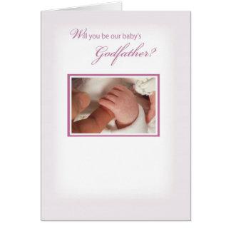 2817 Girl Godfather Invitation