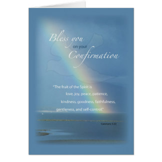 2822 Confirmation Rainbow Card