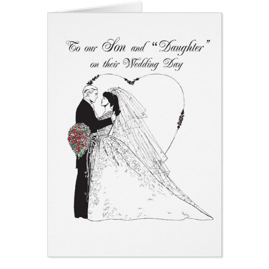 "2851 Son and ""Daughter""  on Wedding Day Card"