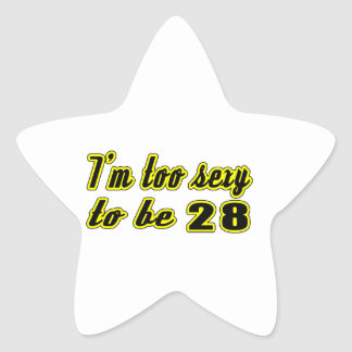 28 birthday designs stickers