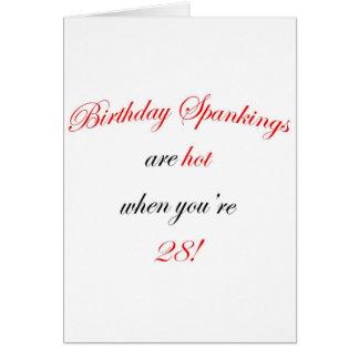 28 Birthday Spanking Card