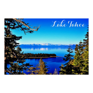 28 X 18 LOVELY LAKE TAHOE SEMI GLOSS POSTER