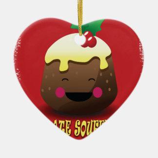 28th February - Chocolate Souffle Day Ceramic Heart Decoration