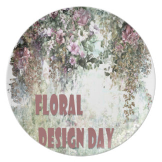 28th February - Floral Design Day Plate