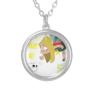 28th February - Tooth Fairy Day - Appreciation Day Silver Plated Necklace