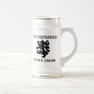 28th INF Black Lions Beer Stein