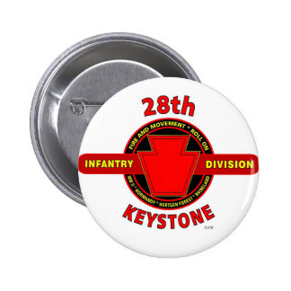28TH INFANTRY DIVISION KEYSTONE BATTLE PRODUCTS PINBACK BUTTONS