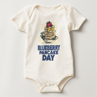 28th January - Blueberry Pancake Day Baby Bodysuit