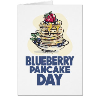28th January - Blueberry Pancake Day Card
