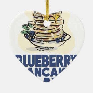 28th January - Blueberry Pancake Day Ceramic Ornament