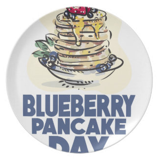 28th January - Blueberry Pancake Day Party Plate
