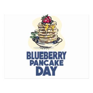 28th January - Blueberry Pancake Day Postcard