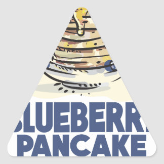 28th January - Blueberry Pancake Day Triangle Sticker