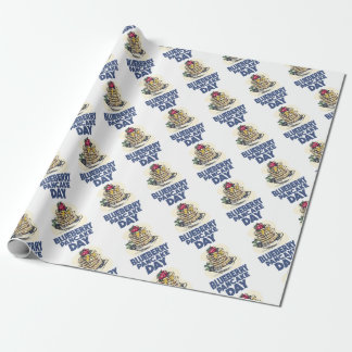 28th January - Blueberry Pancake Day Wrapping Paper