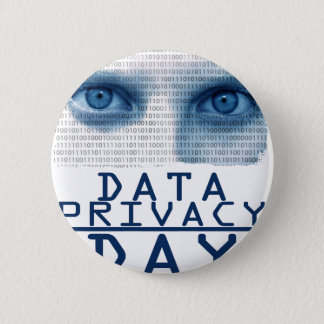 28th January - Data Privacy Day 6 Cm Round Badge