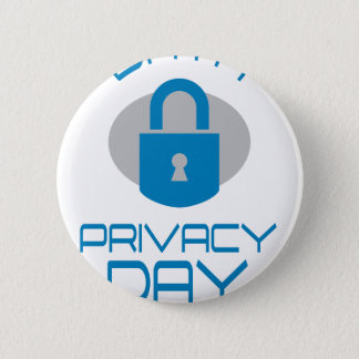 28th January - Data Privacy Day - Appreciation Day 6 Cm Round Badge