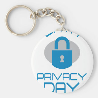 28th January - Data Privacy Day - Appreciation Day Basic Round Button Key Ring