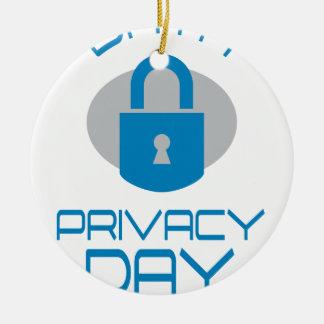 28th January - Data Privacy Day - Appreciation Day Ceramic Ornament