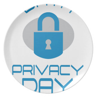 28th January - Data Privacy Day - Appreciation Day Party Plate