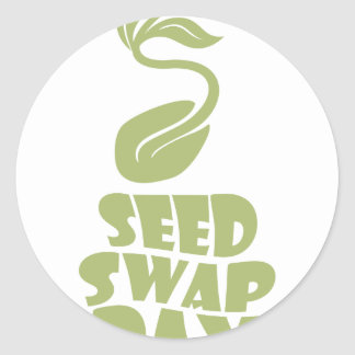 28th January - Seed Swap Day - Appreciation Day Classic Round Sticker