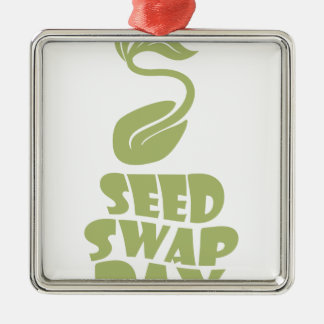 28th January - Seed Swap Day - Appreciation Day Metal Ornament