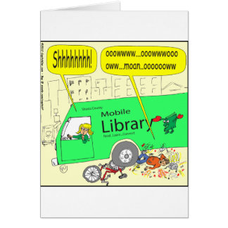 297 mobile library cartoon greeting card
