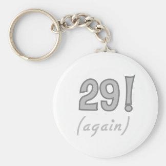 29 Again Basic Round Button Key Ring