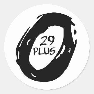 29 plus mountsin bike wheel classic round sticker