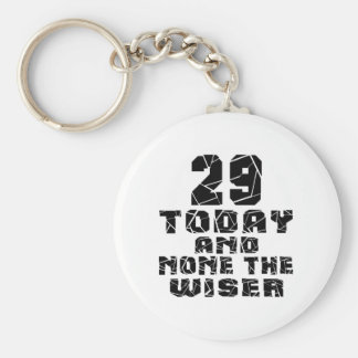 29 Today And None The Wiser Basic Round Button Key Ring