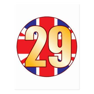 29 UK Gold Postcard