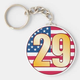 29 USA Gold Key Ring