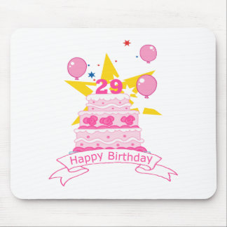 29 Year Old Birthday Cake Mouse Pad