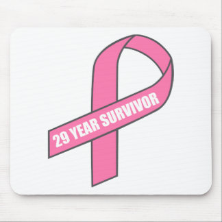 29 Year Survivor (Breast Cancer Pink Ribbon) Mouse Pad