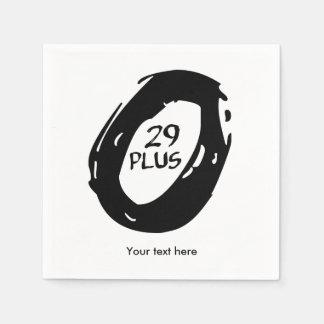 29er Plus bike Paper Napkins