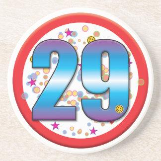 29th Birthday v2 Beverage Coaster