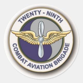 29TH Combat Aviation Brigade Classic Round Sticker