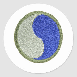 29th Infantry Classic Round Sticker
