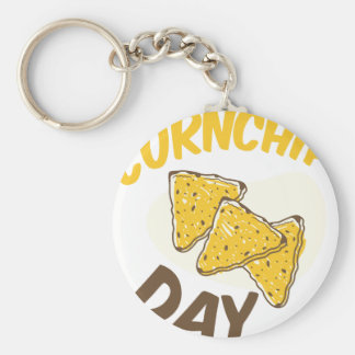 29th January - Cornchip Day Basic Round Button Key Ring