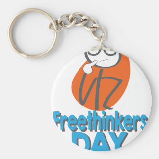 29th January - Freethinkers Day Basic Round Button Key Ring