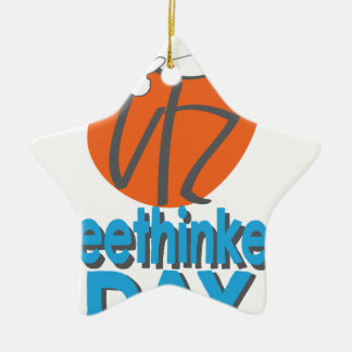 29th January - Freethinkers Day Ceramic Ornament