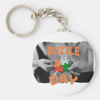 29th January - Puzzle Day - Appreciation Day Basic Round Button Key Ring