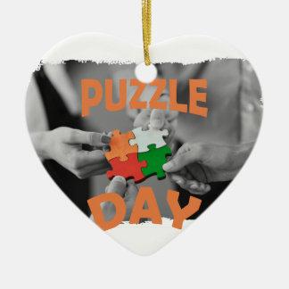 29th January - Puzzle Day - Appreciation Day Ceramic Ornament