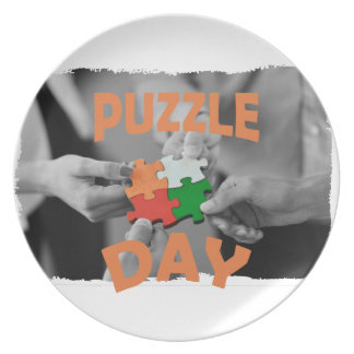 29th January - Puzzle Day - Appreciation Day Dinner Plates