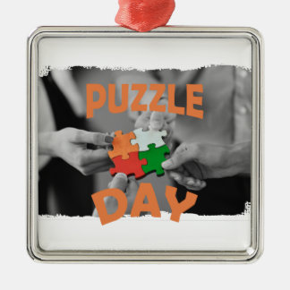 29th January - Puzzle Day - Appreciation Day Metal Ornament