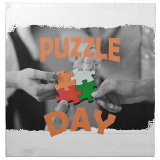 29th January - Puzzle Day - Appreciation Day Napkin