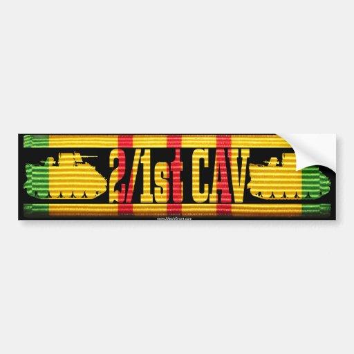 2/1st Cav ACAV Tracks Bumper Sticker