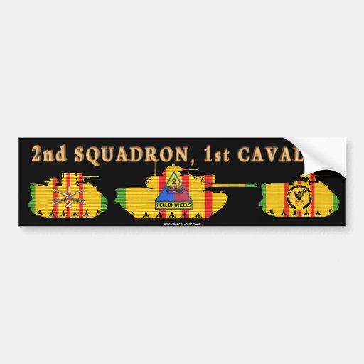 2/1st Cavalry VSR Armored Vehicles Bumper Sticker